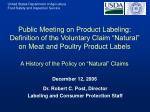 dr robert c post director labeling and consumer protection staff