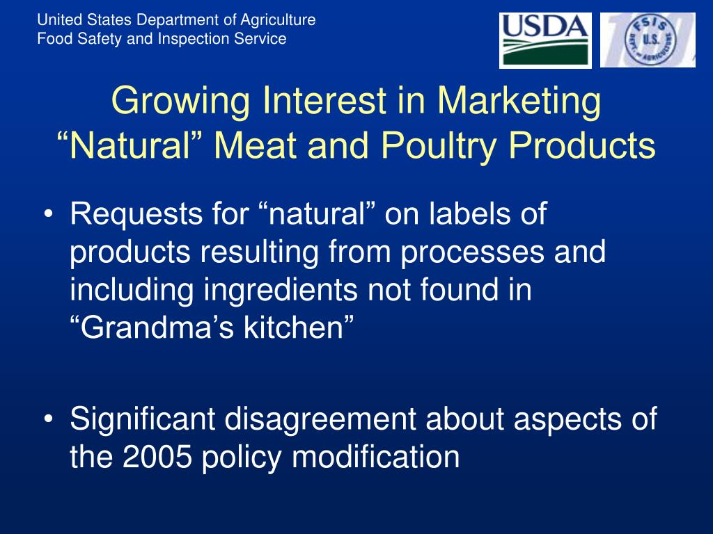 "Growing Interest in Marketing ""Natural"" Meat and Poultry Products"
