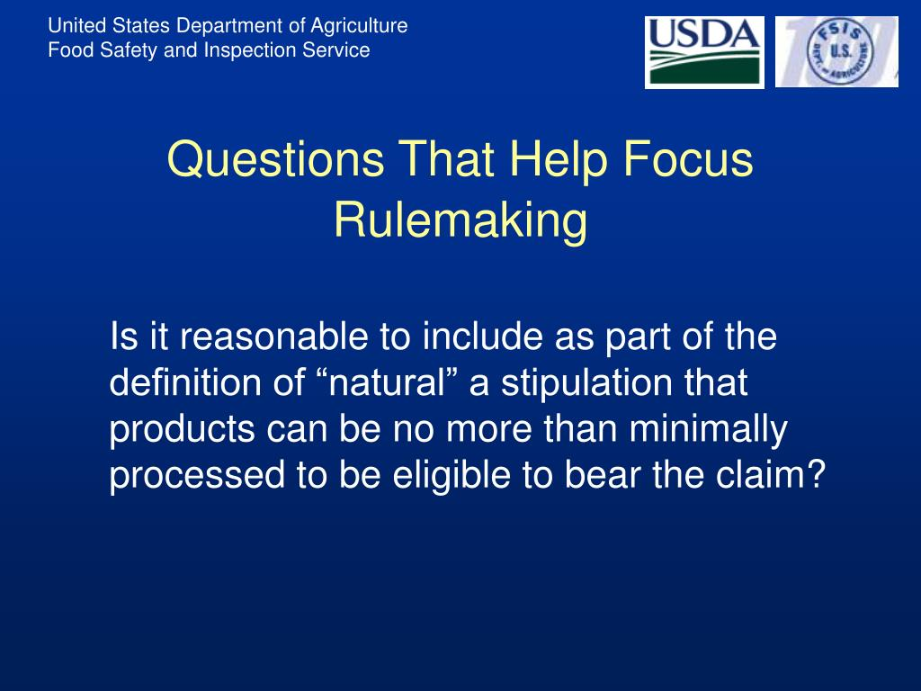 Questions That Help Focus Rulemaking