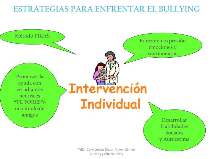 ESTRATEGIAS PARA ENFRENTAR EL BULLYING