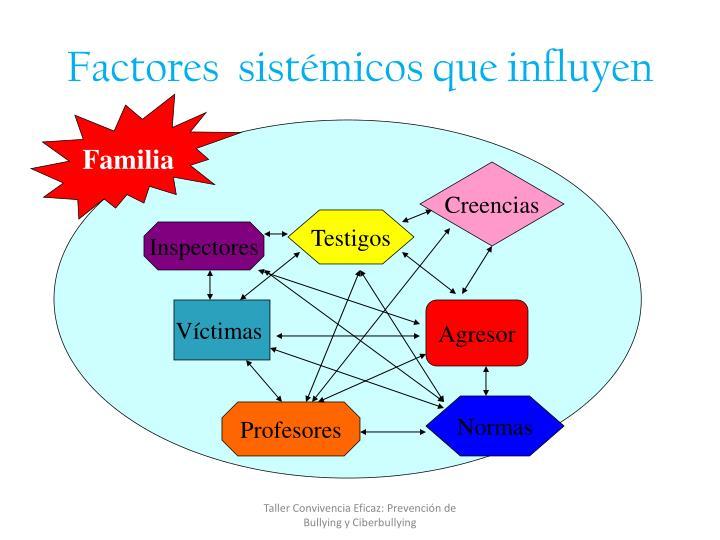 Factores  sistémicos que influyen