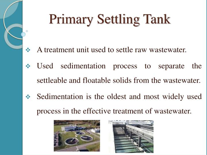 Primary Settling Tank