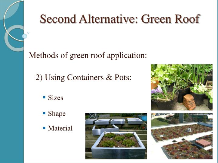 Methods of green roof application: