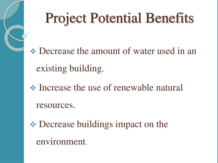 Project Potential Benefits