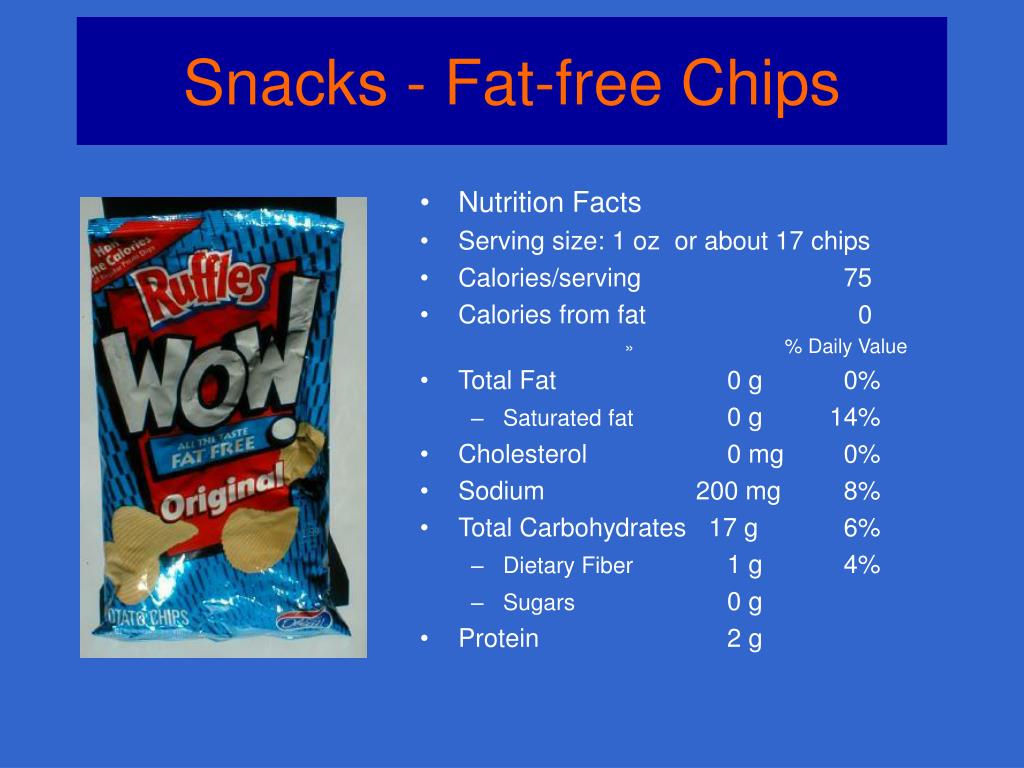 Snacks - Fat-free Chips