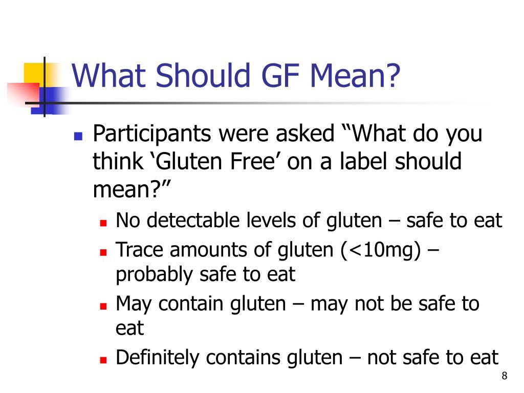 What Should GF Mean?