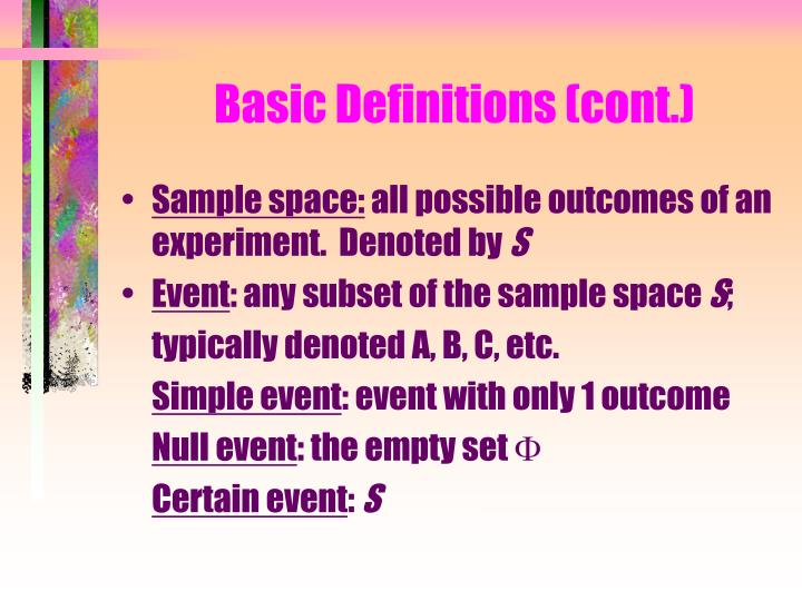 Basic Definitions (cont.)