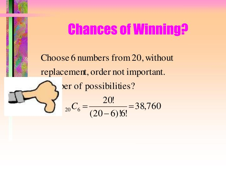 Chances of Winning?