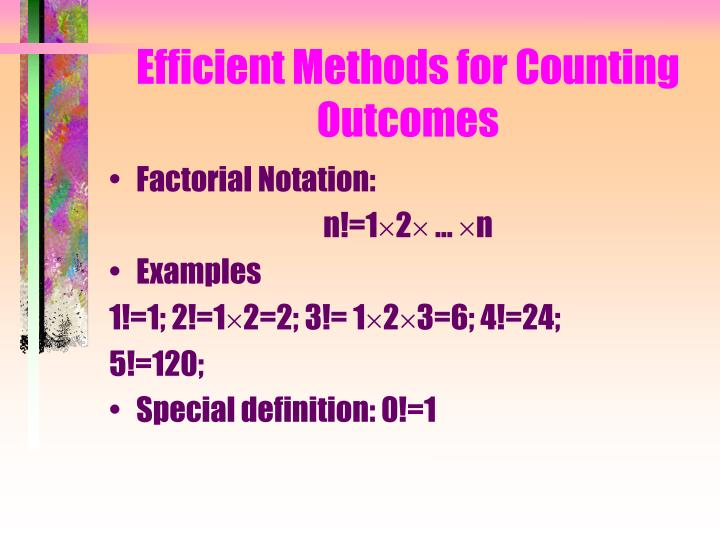 Efficient Methods for Counting Outcomes