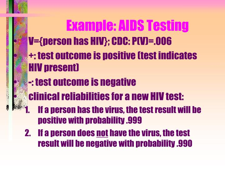 Example: AIDS Testing