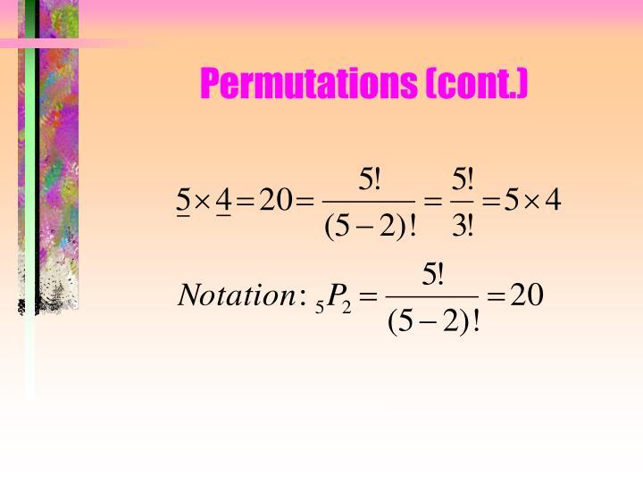 Permutations (cont.)
