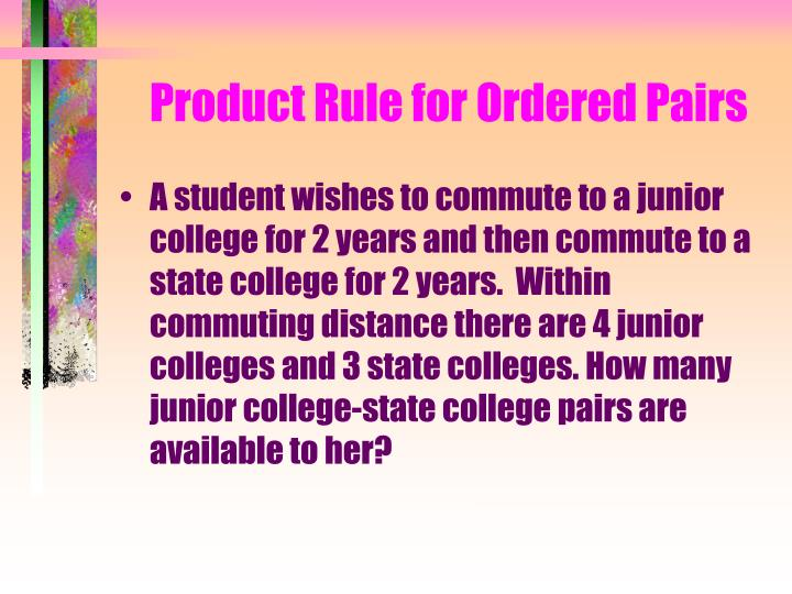 Product Rule for Ordered Pairs
