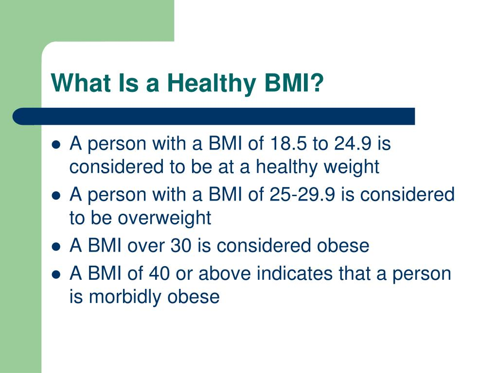 What Is a Healthy BMI?