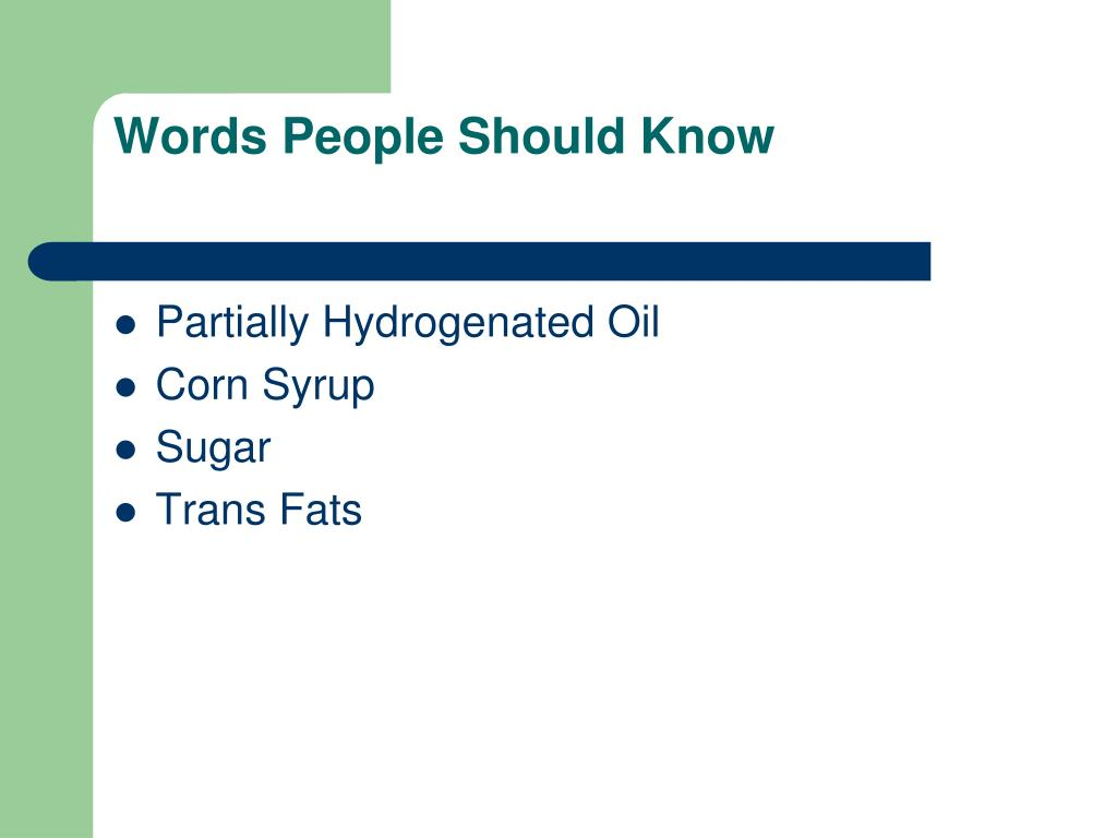Words People Should Know