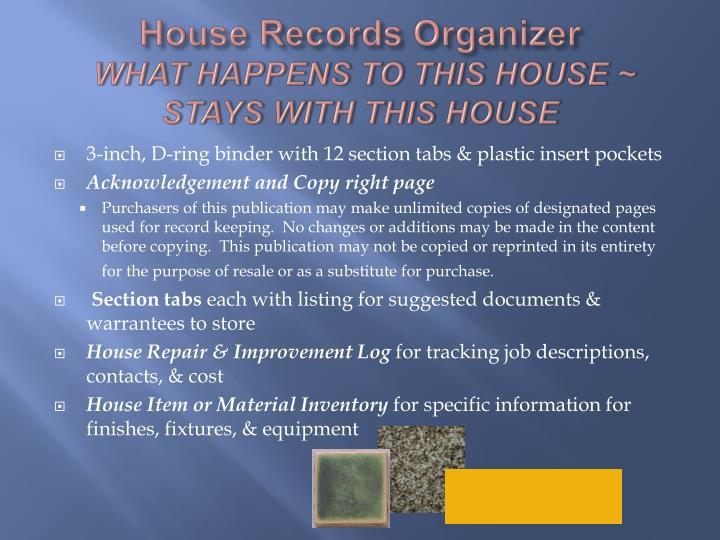 House Records Organizer