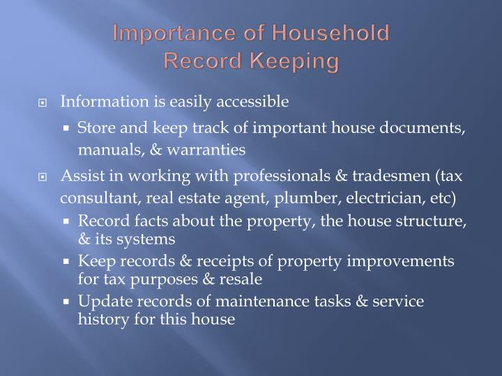 Importance of Household