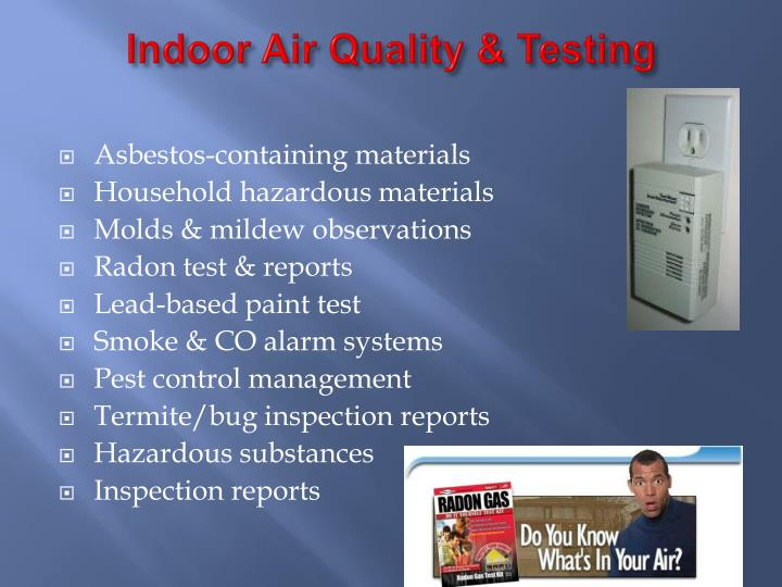 Indoor Air Quality & Testing