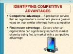identifying competitive advantages1