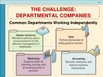 the challenge departmental companies