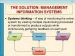 the solution management information systems