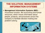 the solution management information systems1