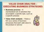 value chain analysis executing business strategies