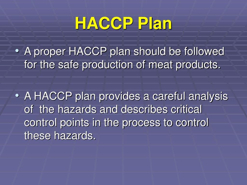 HACCP Plan