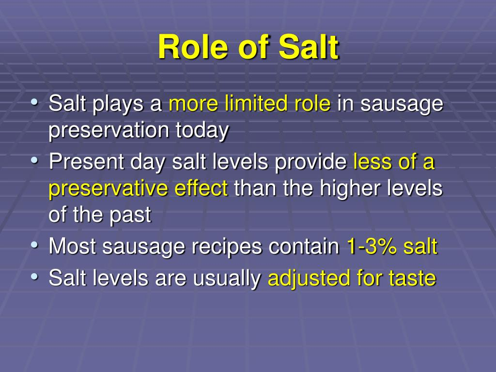 Role of Salt