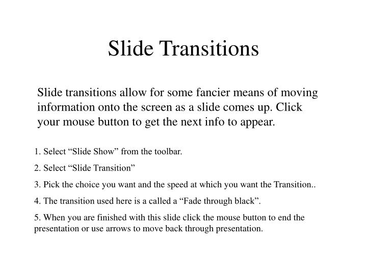 Slide Transitions