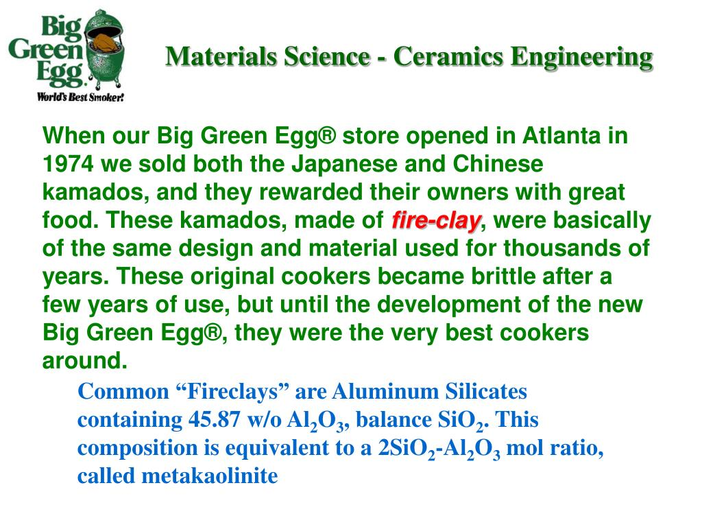 Materials Science - Ceramics Engineering