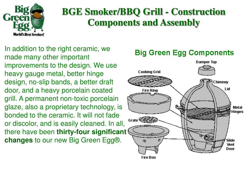 BGE Smoker/BBQ Grill - Construction