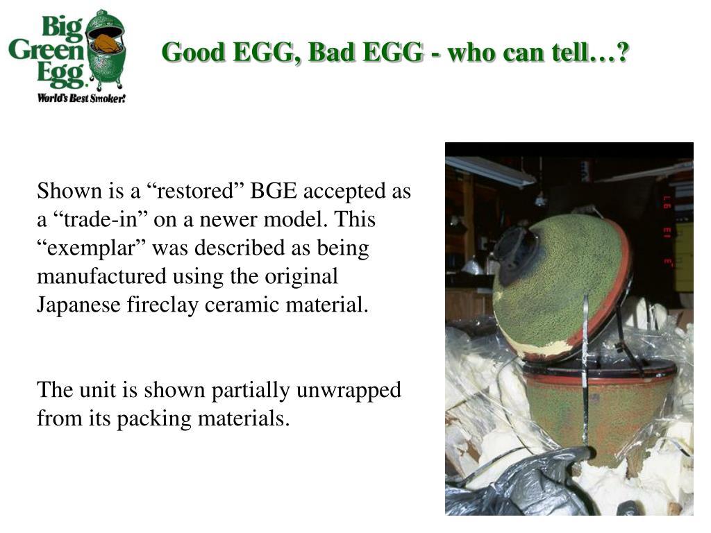 Good EGG, Bad EGG - who can tell…?