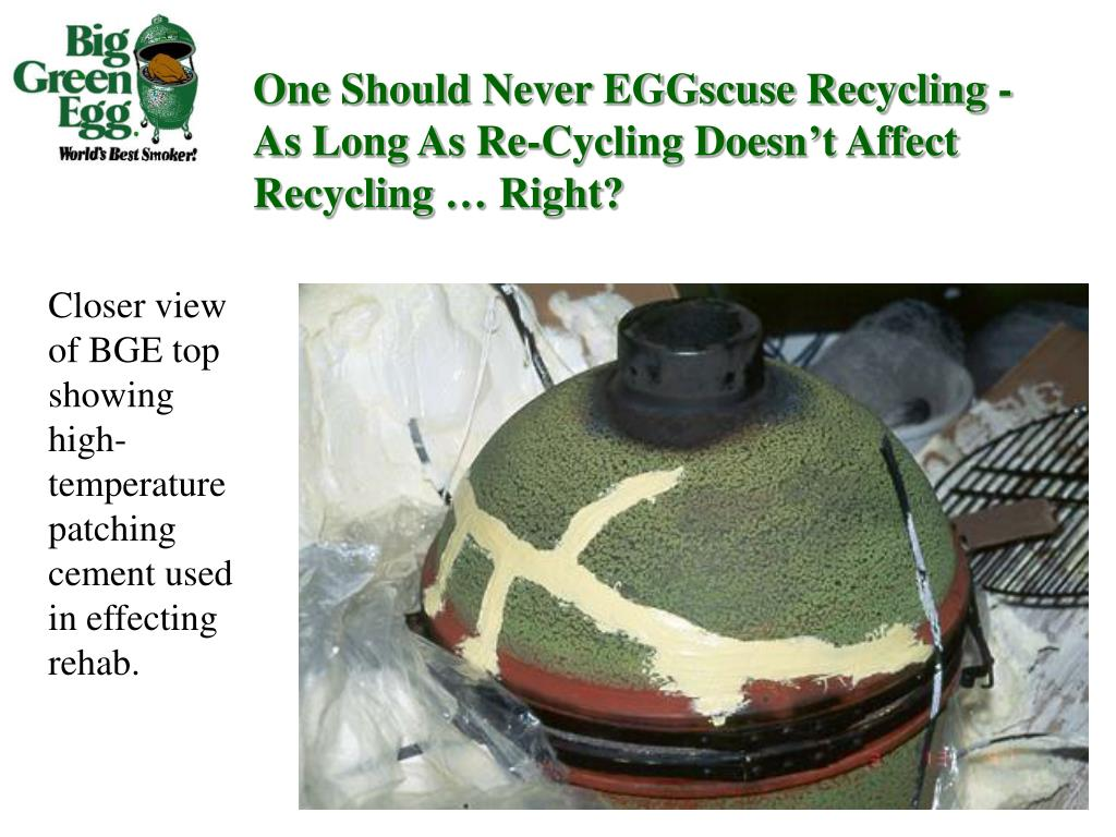 One Should Never EGGscuse Recycling - As Long As Re-Cycling Doesn't Affect Recycling … Right?