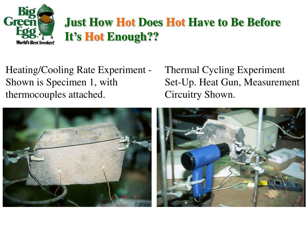 Heating/Cooling Rate Experiment - Shown is Specimen 1, with thermocouples attached.