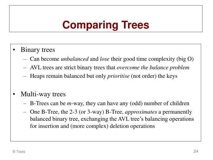 Comparing Trees