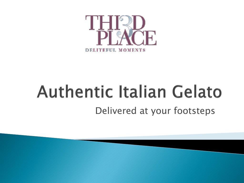 Authentic Italian Gelato