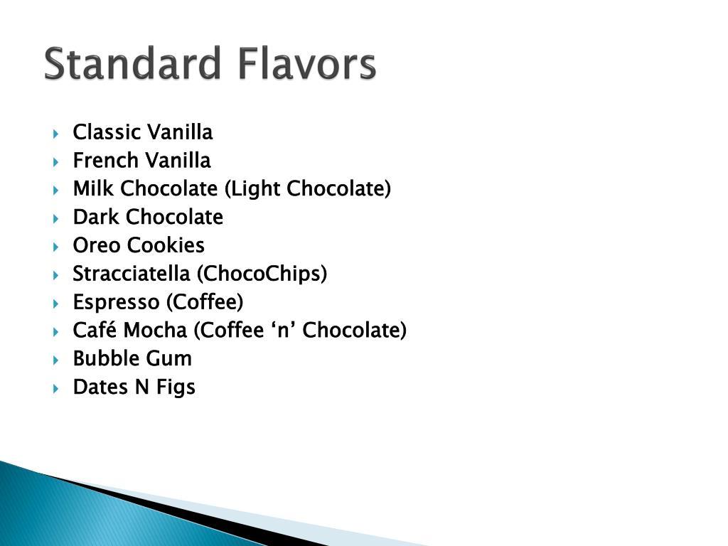 Standard Flavors
