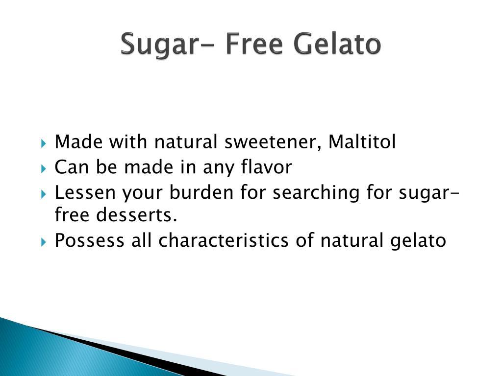 Sugar- Free Gelato