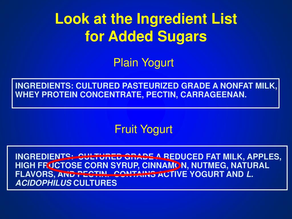 Look at the Ingredient List