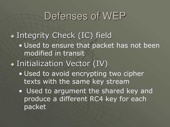 Defenses of WEP