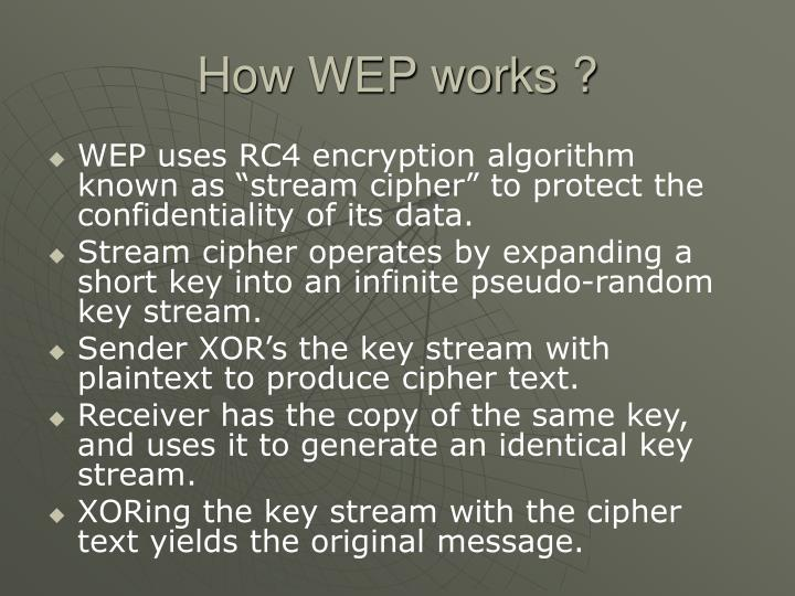 How WEP works ?