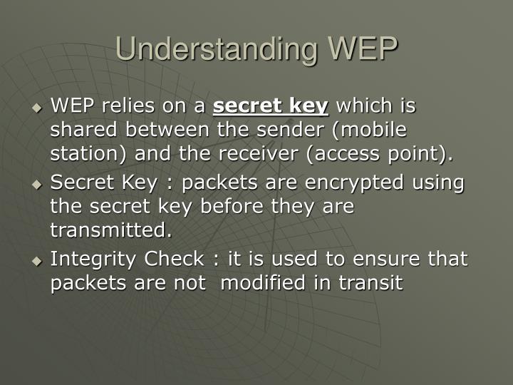 Understanding WEP