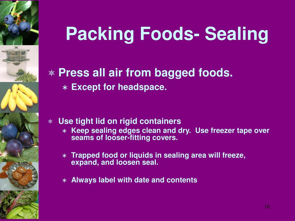 Packing Foods- Sealing