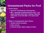 unsweetened packs for fruit25
