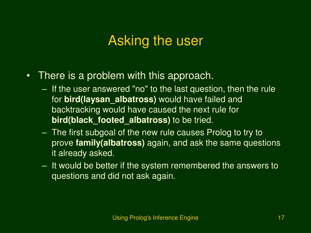 Asking the user