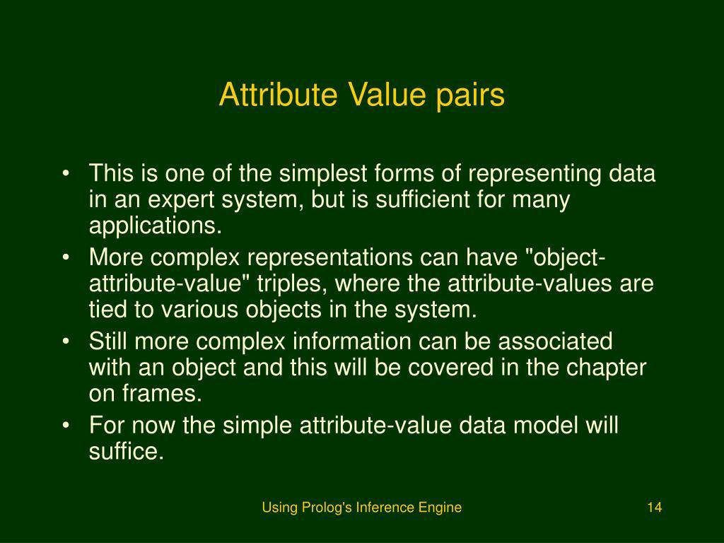 Attribute Value pairs