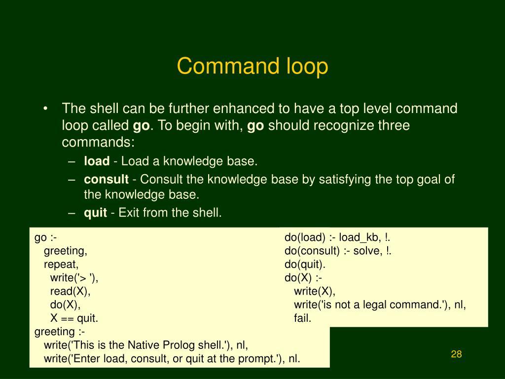 Command loop