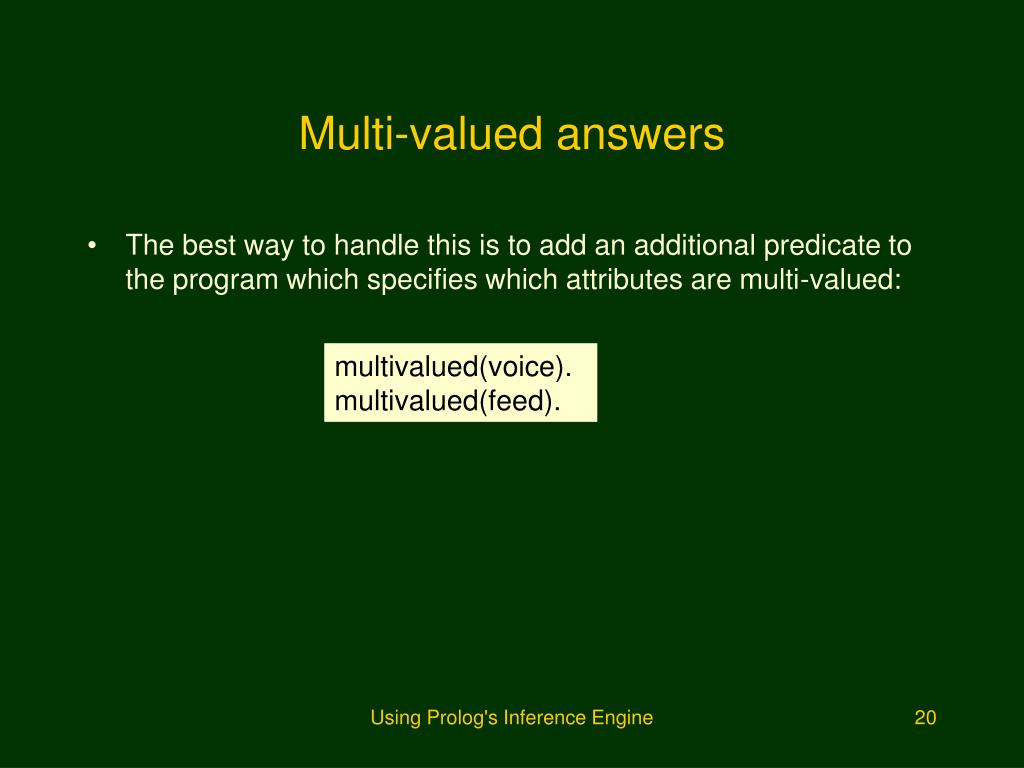 Multi-valued answers