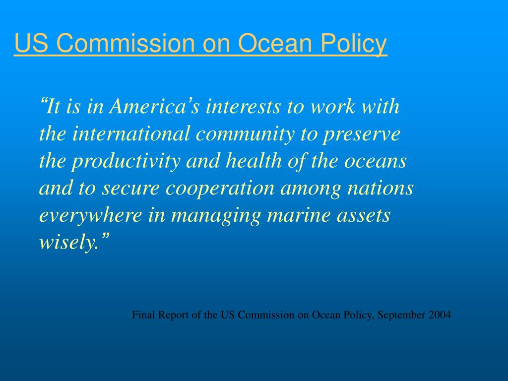US Commission on Ocean Policy