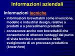informazioni aziendali